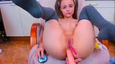Morning sex and breakfast in bed for cute European girl Cecilia Scott