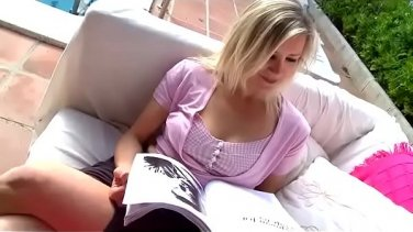 Blond Babe loves to suck cock and ride on it